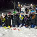 Sparta Varsity Girls Ski Celebrate 1st Place